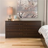 Prepac Fremont Espresso 6 Drawer Dresser