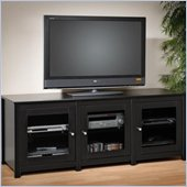 Prepac Arturo Series Plasma/LCD 3 Door Cabinet TV Stand in Black Finish