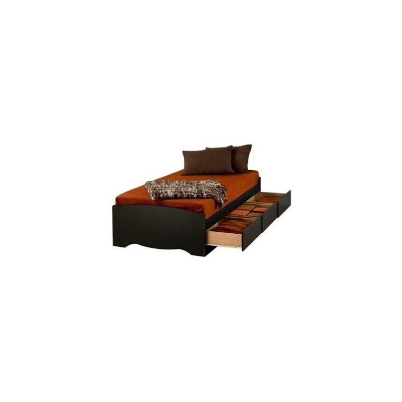 Sonoma Black Twin XL Platform Storage Bed with Drawers