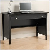 Prepac Belcarra Series Contemporary Wood Writing Desk in Black