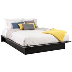 Prepac Black Sonoma Double / Full Size Platform Bed