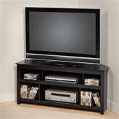 Prepac Vasari Flat Panel Plasma / LCD Corner TV Stand in Black