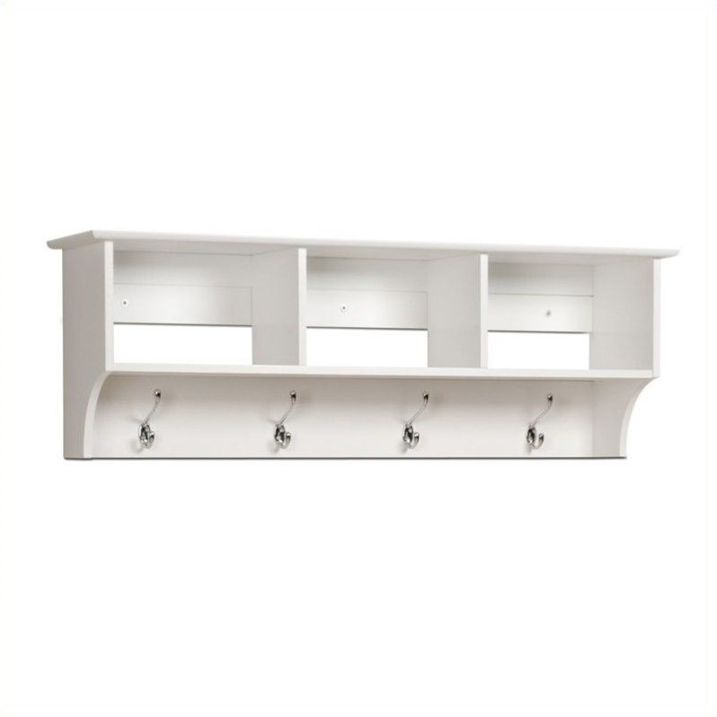 prepac sonoma white cubbie shelf wall entryway coat rack. Black Bedroom Furniture Sets. Home Design Ideas