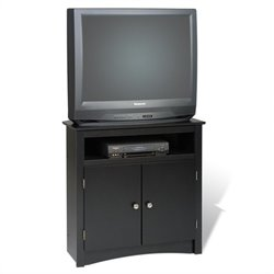 Prepac Prepac Sonoma Tall Corner TV Stand in Black