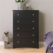 Prepac Sonoma  Black 5 Drawer Chest