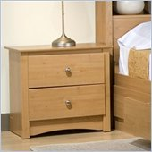 Prepac Sonoma 2 Drawer Night Stand Light Maple Night Table