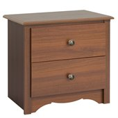 Prepac Monterey Cherry 2 Drawer Nightstand