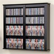 ADD TO YOUR SET: Prepac Double Floating CD DVD Wall Media Storage Rack in Black