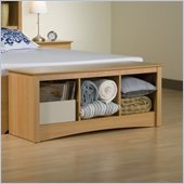 Prepac Sonoma Maple Cubby Storage Bench