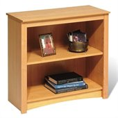 Prepac Sonoma 2 Shelf 29H Wood Bookcase in Maple