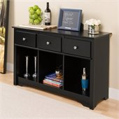 Prepac Sonoma Black Living Room Console