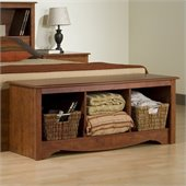 Prepac Monterey Cherry Cubby Storage Bench