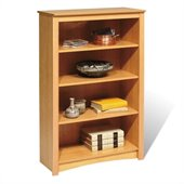 Prepac Sonoma 4 Shelf 48H Wood Bookcase in Maple