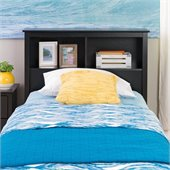 Prepac Sonoma Twin Bookcase Headboard in Black
