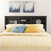 Prepac Sonoma Full / Queen Bookcase Headboard in Black