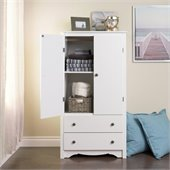 Prepac Monterey White TV/Wardrobe Armoire