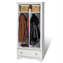 Prepac Monterey Entryway Organizer in White