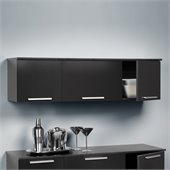 Prepac Coal Harbor Wall Mounted Hutch in Black