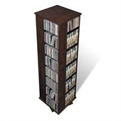 Prepac 4 Sided Spinner Media Tower in Espresso Finish