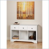 Prepac 3 Drawer Console Table in White Finish