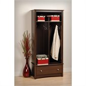 Prepac Fremont 1 Drawer Double Locker in Espresso Finish