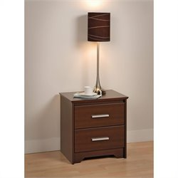 Prepac Coal Harbor 2 Drawer Nightstand in Espresso Finish