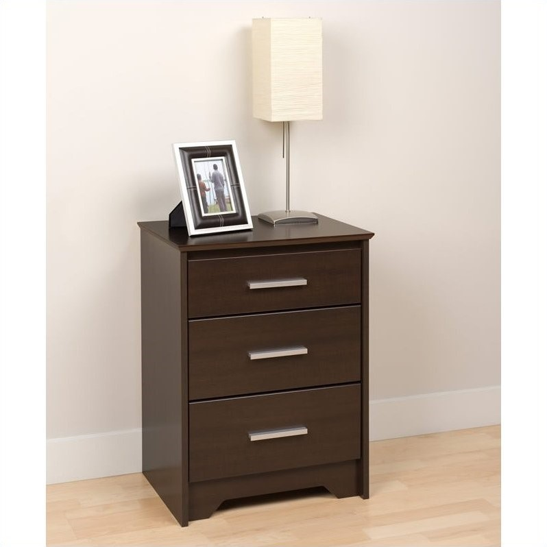 Coal Harbor Tall 3 Drawer Nightstand in Espresso Finish