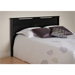 Prepac Coal Harbor Full / Queen Panel Headboard in Black