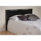 Prepac Coal Harbor Full / Queen Panel Headboard in Black Finish