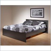 Prepac Coal Harbor Queen Platform Bed in Black Finish
