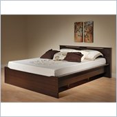 Prepac Coal Harbor Queen Platform Bed in Espresso Finish