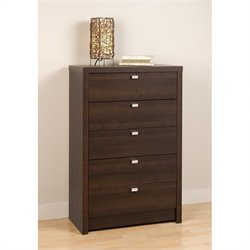 Prepac Series 9 Designer 5 Drawer Chest in Espresso