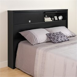 Prepac Series 9 Designer 2 Door Full / Queen Bookcase Headboard in Black