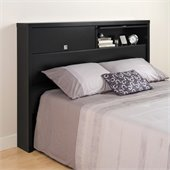 Prepac Series 9 Designer 2 Door Full / Queen Headboard in Black