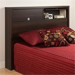 Prepac Series 9 Designer 2 Door Full / Queen Bookcase Headboard in Espresso