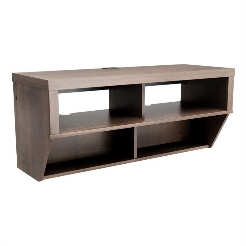 Prepac Series 9 Designer 42 Wide Wall Mounted AV Console in Espresso