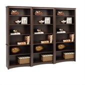 Prepac 3 Pieces 77 6 Shelf Bookcase Set in Espresso Finish