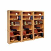 Prepac Sonoma 6 Shelf Wall Bookcase in Maple