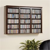 Prepac Triple Wall Mounted Storage in Espresso
