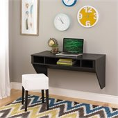 Prepac Designer Floating Desk in Washed Ebony Finish