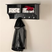 Prepac 36 Wide Hanging Entryway Shelf in Black
