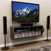 Prepac Altus Wall Mounted Home Entertainment Console in Espresso