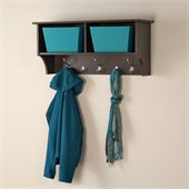 Prepac 36 Wide Hanging Entryway Shelf in Espresso
