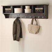 Prepac 60 Wide Hanging Entryway Shelf in Espresso