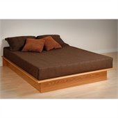 Prepac Oak Juvenile Queen Size Platform Bed 3 Piece Bedroom Set