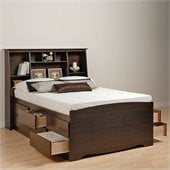 Prepac Manhattan Tall Twin Bookcase Platform Bed 3 Piece Bedroom Set