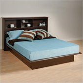 Prepac Manhattan Queen Bookcase Platform Bed 3 Piece Bedroom Set