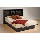 Prepac Sonoma Black Double/Full Bookcase Bed 3 Piece Bedroom Set