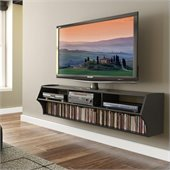 Prepac Altus Plus 58 Floating TV Stand in Black