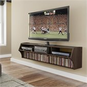 Prepac Altus Plus 58 Floating TV Stand in Espresso